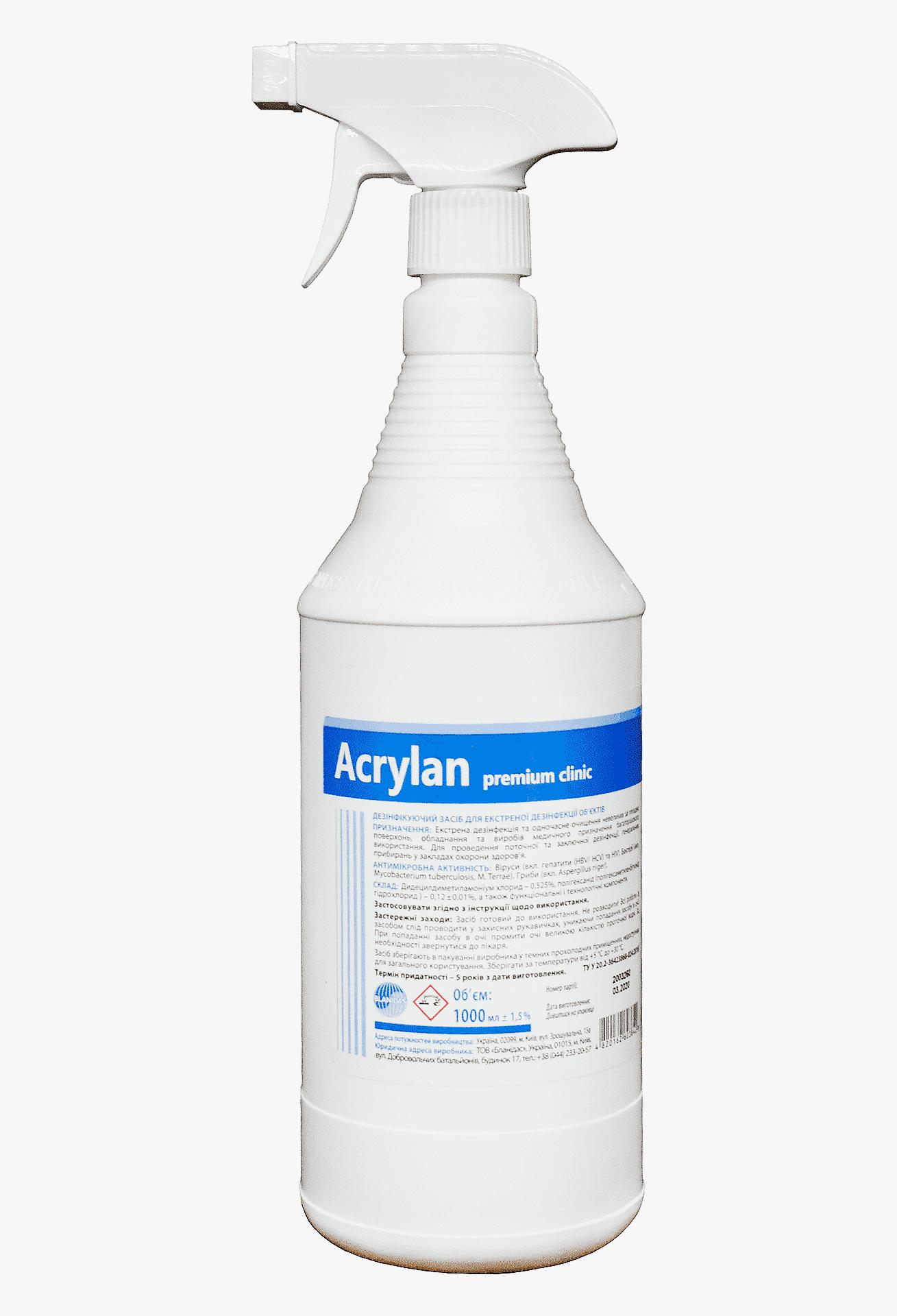 Акрилан преміум клінік з розпилювачем, 1л