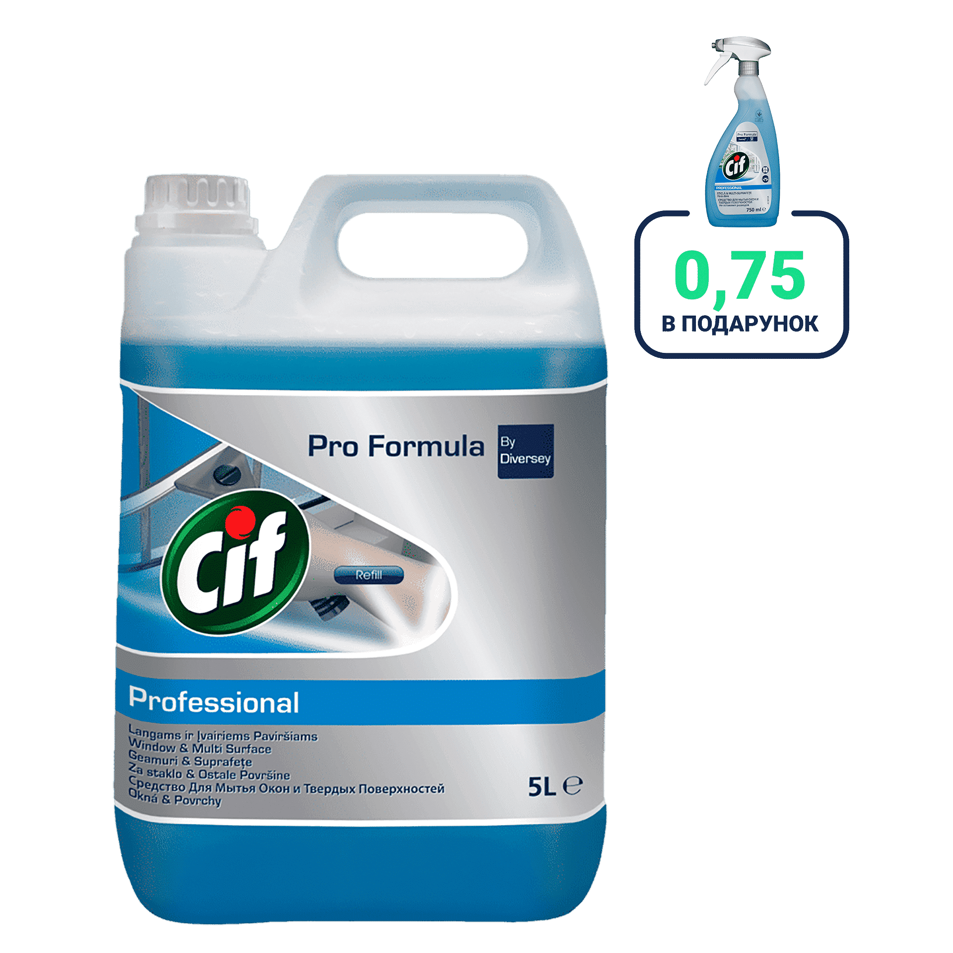 Cif Prof. Window&Multisurface, 5л