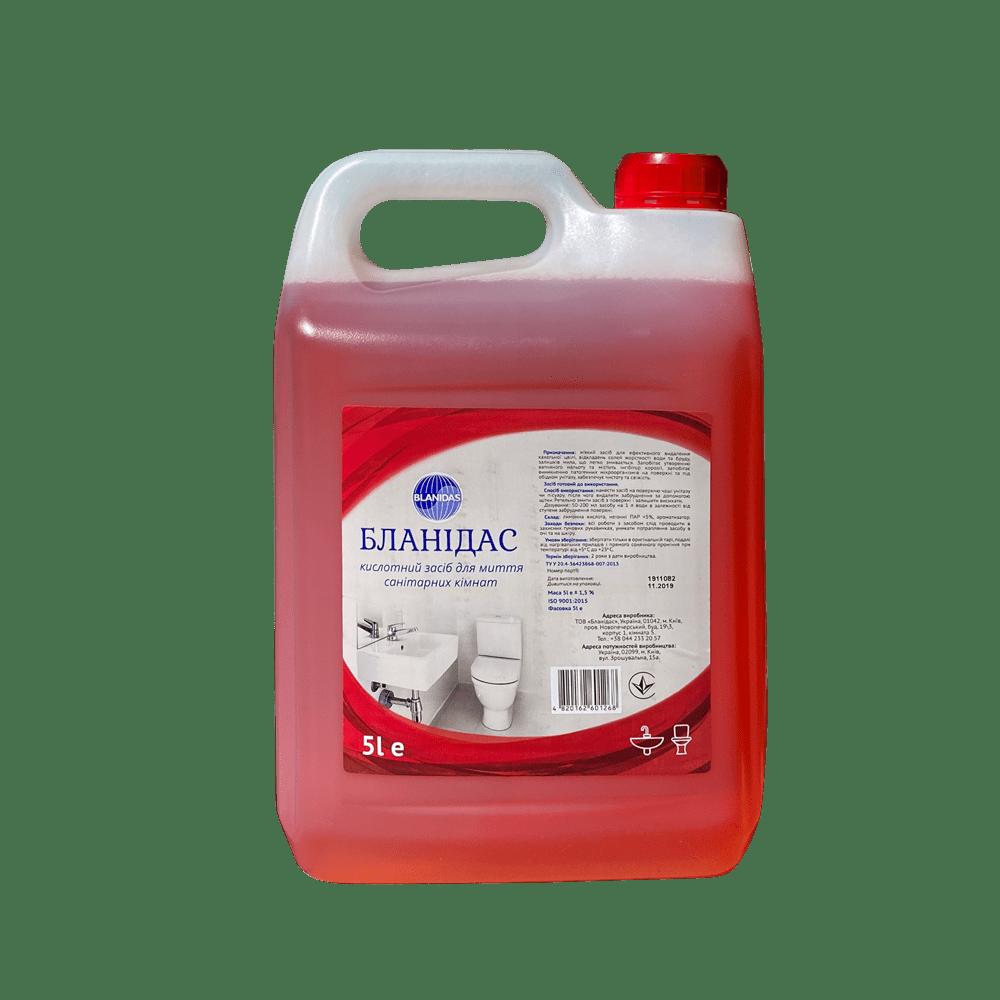 Бланідас- кислотний засіб для миття санітарних кімнат, 5л