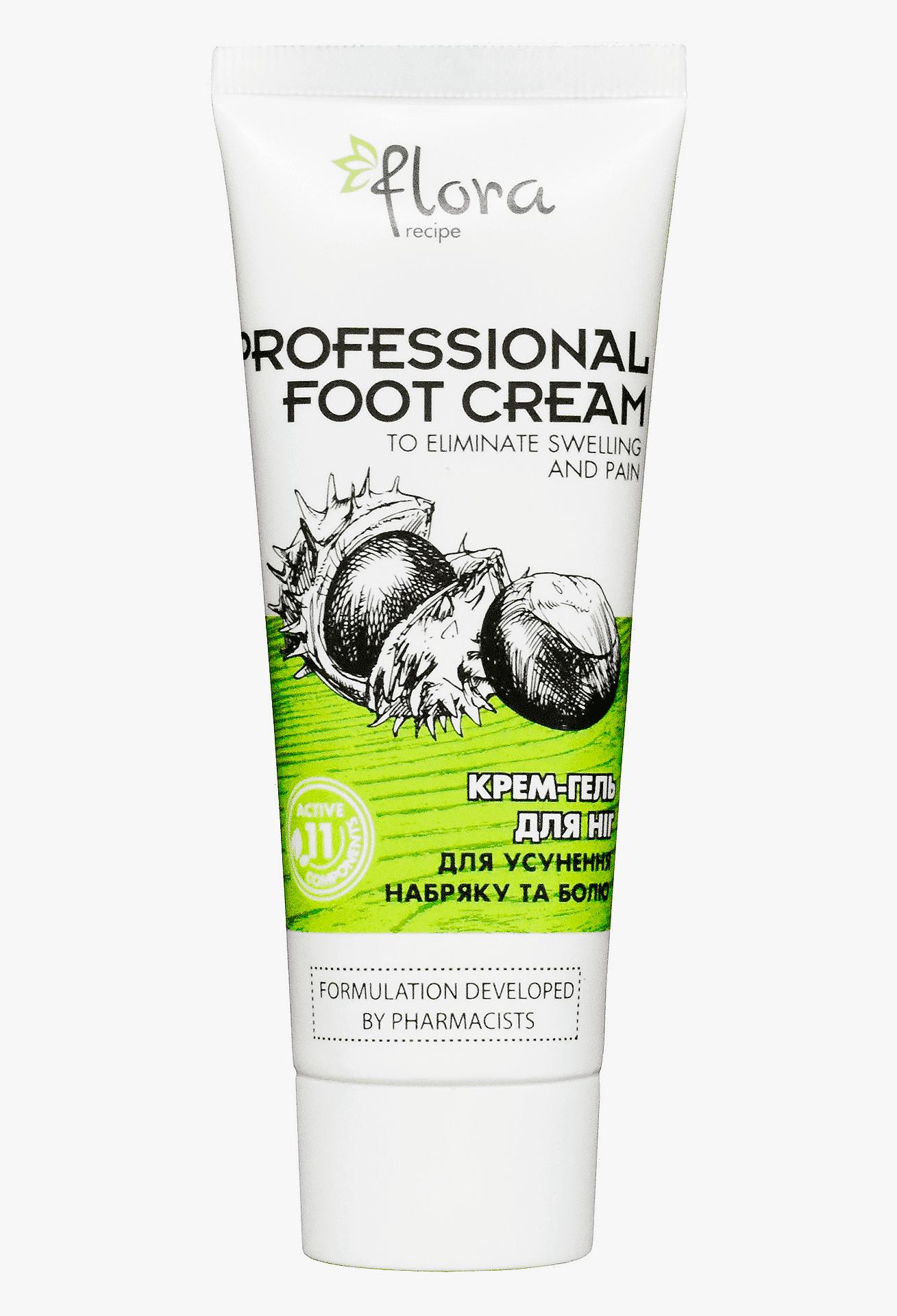 Крем-гель для ніг. Flora Recipe, туба 75мл