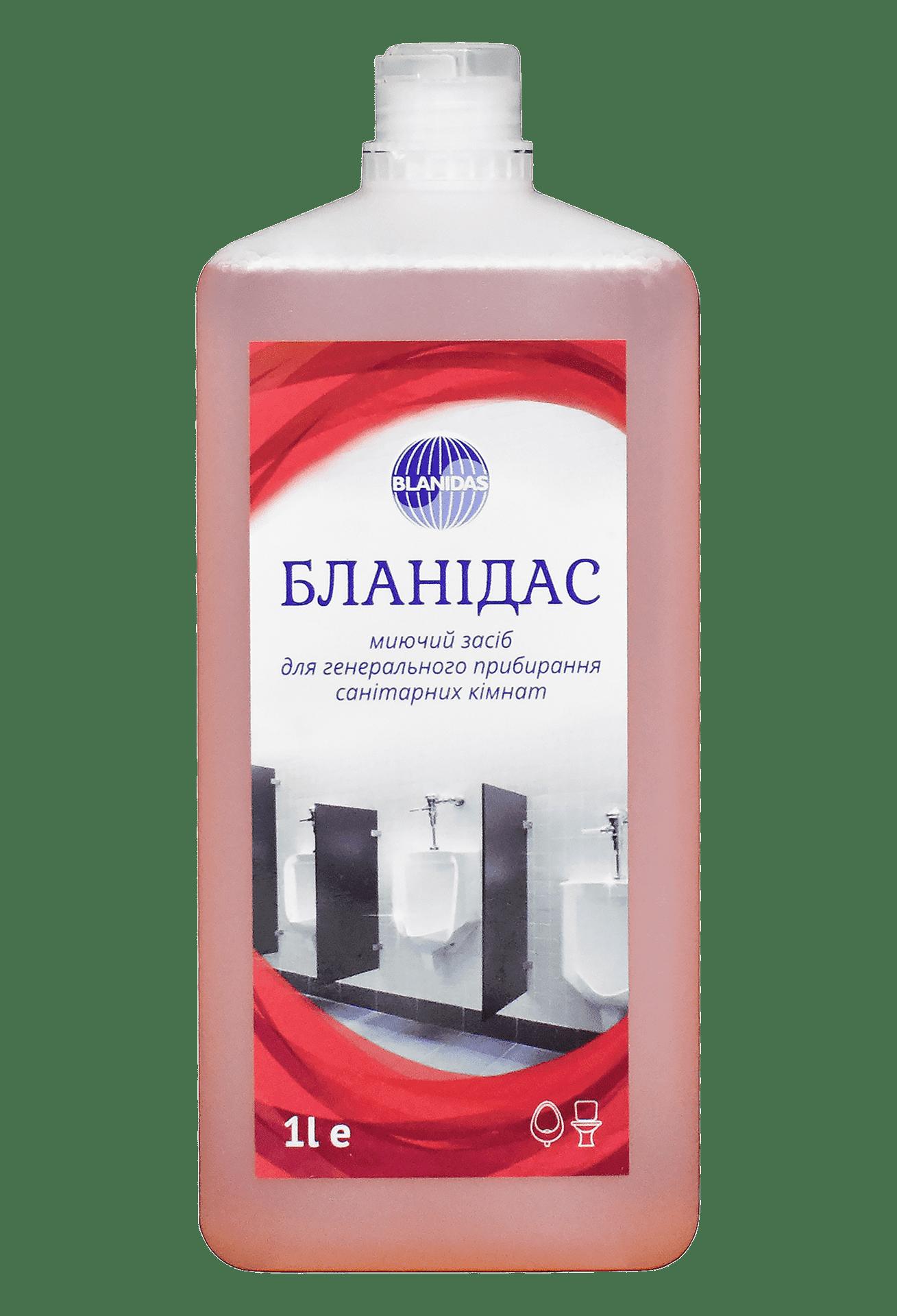 Бланідас- миючий засіб для генерального прибирання санітарних кімнат, 1л
