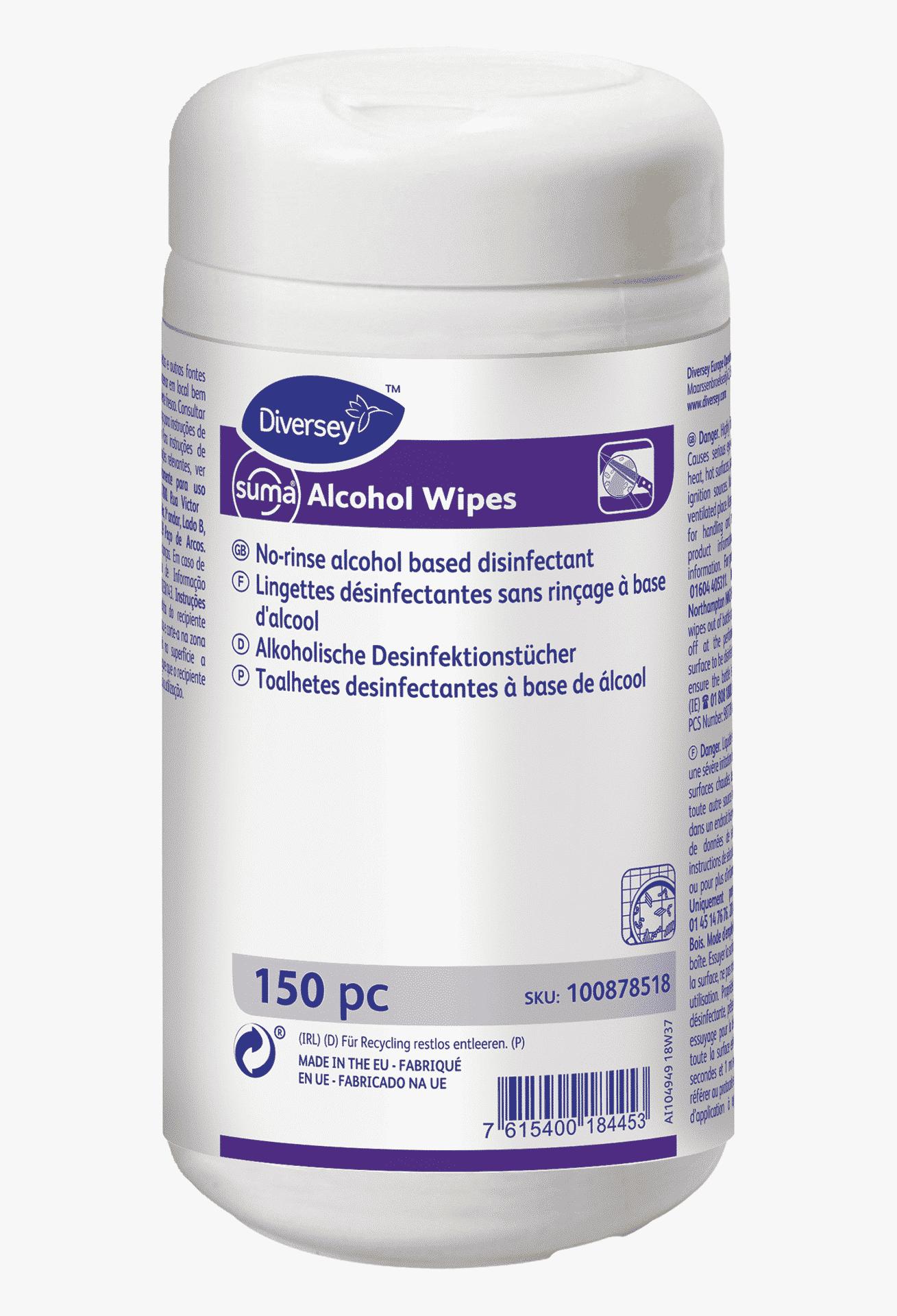 Suma Alcohol wipes – салфетки для дезинфекции поверхностей, 150шт.