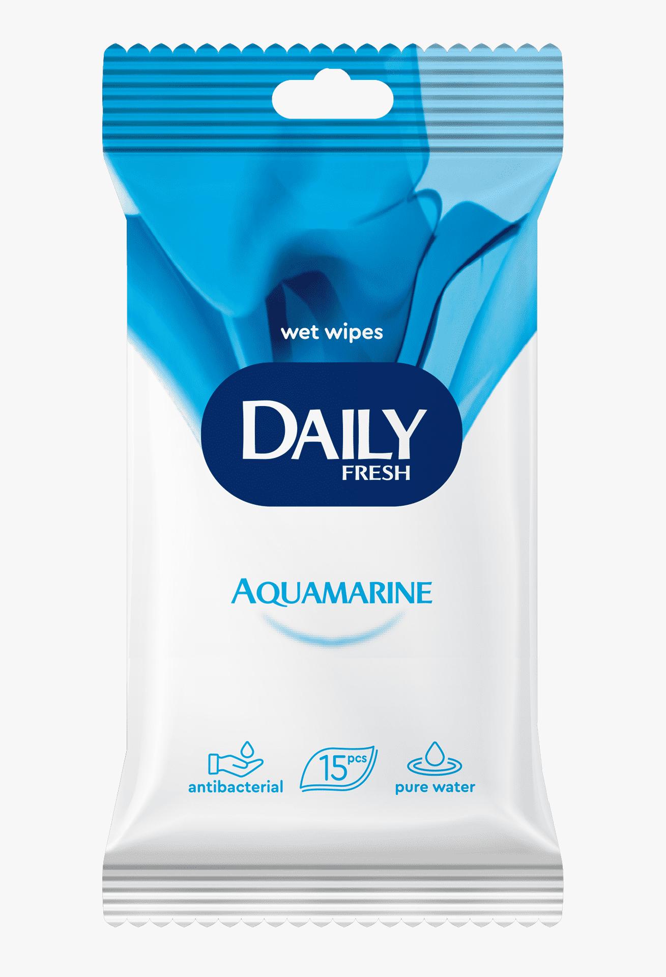 Daily Серветка волога універсальна Fresh Aquamarine, 15шт.