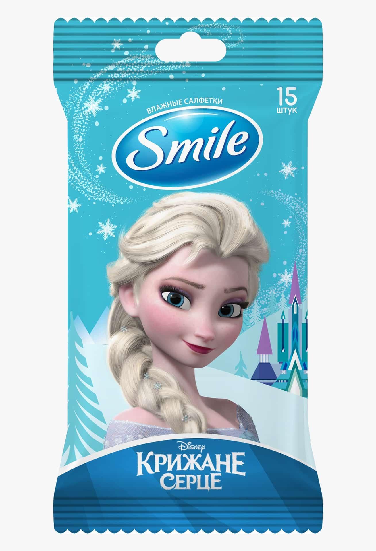 """SMILE Серветка волога """"Frozen"""" MIX WHITE, 15шт."""