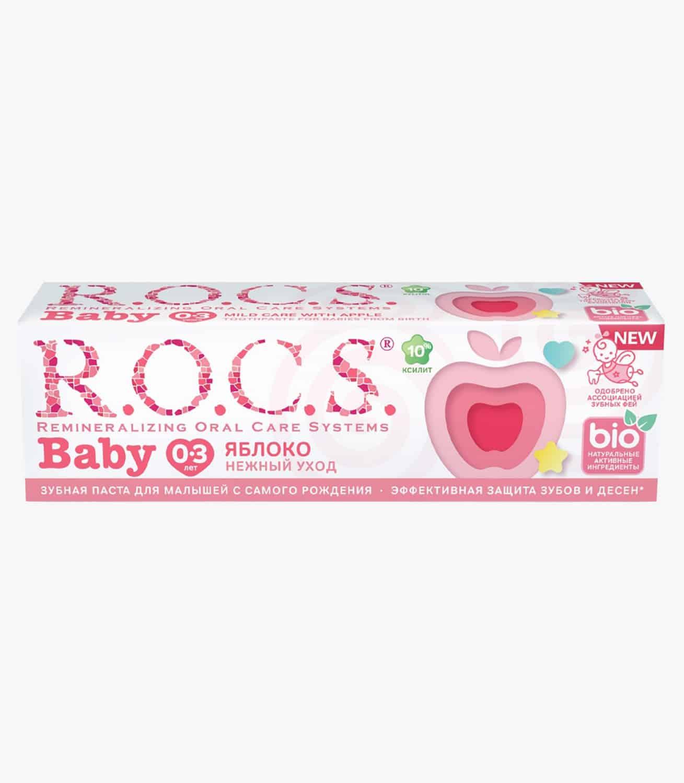 """Зубна паста """"R.O.C.S. Baby. Нежный уход. Яблоко"""", 45гр"""