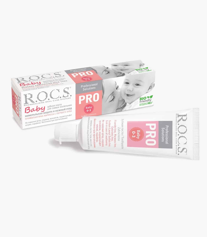 """Зубна паста """"R.O.C.S. PRO Baby Мінеральний захист і ніжний догляд"""", 45гр"""