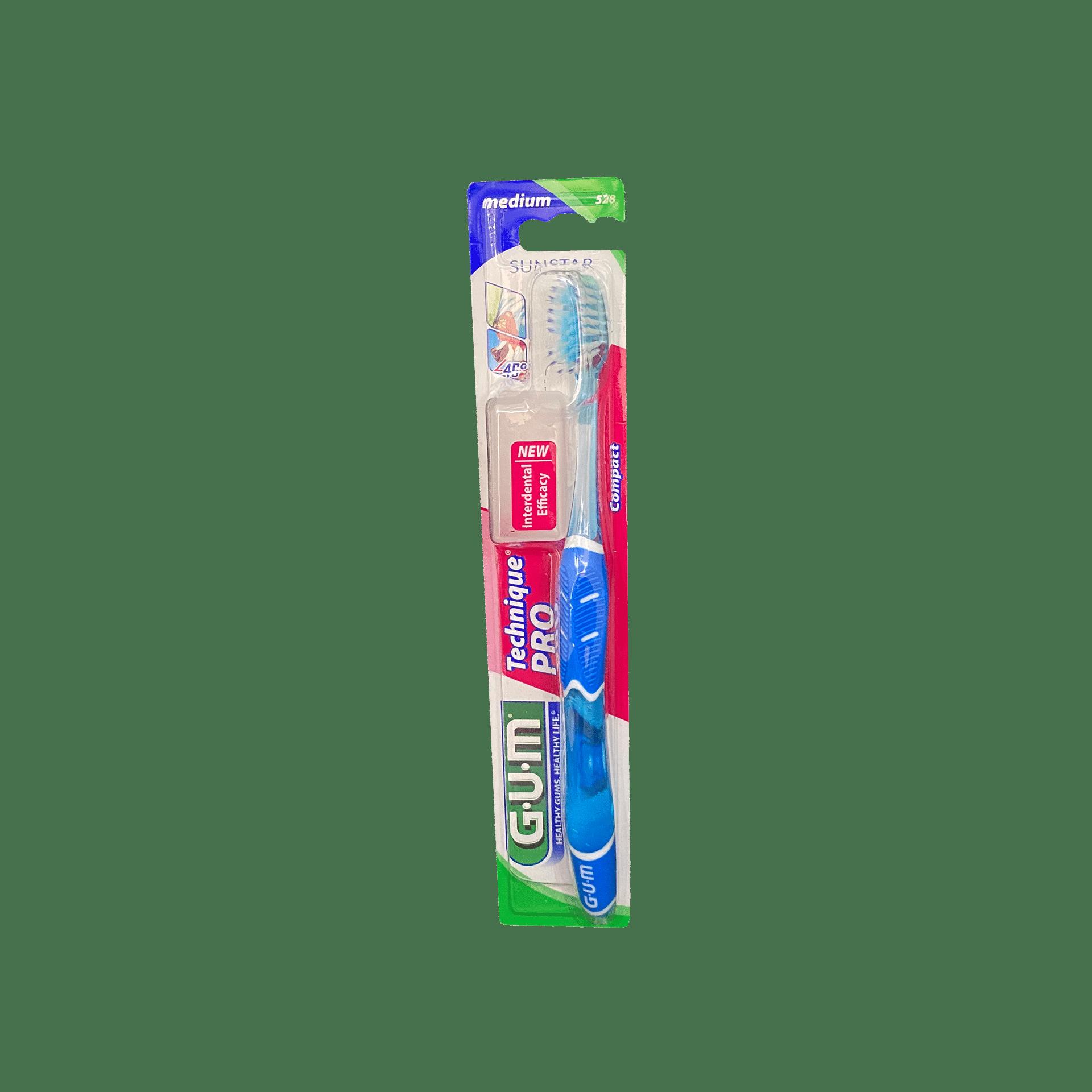 Зубна щітка GUM Technique PRO COMPACT MEDIUM, компактна середньо-м'яка