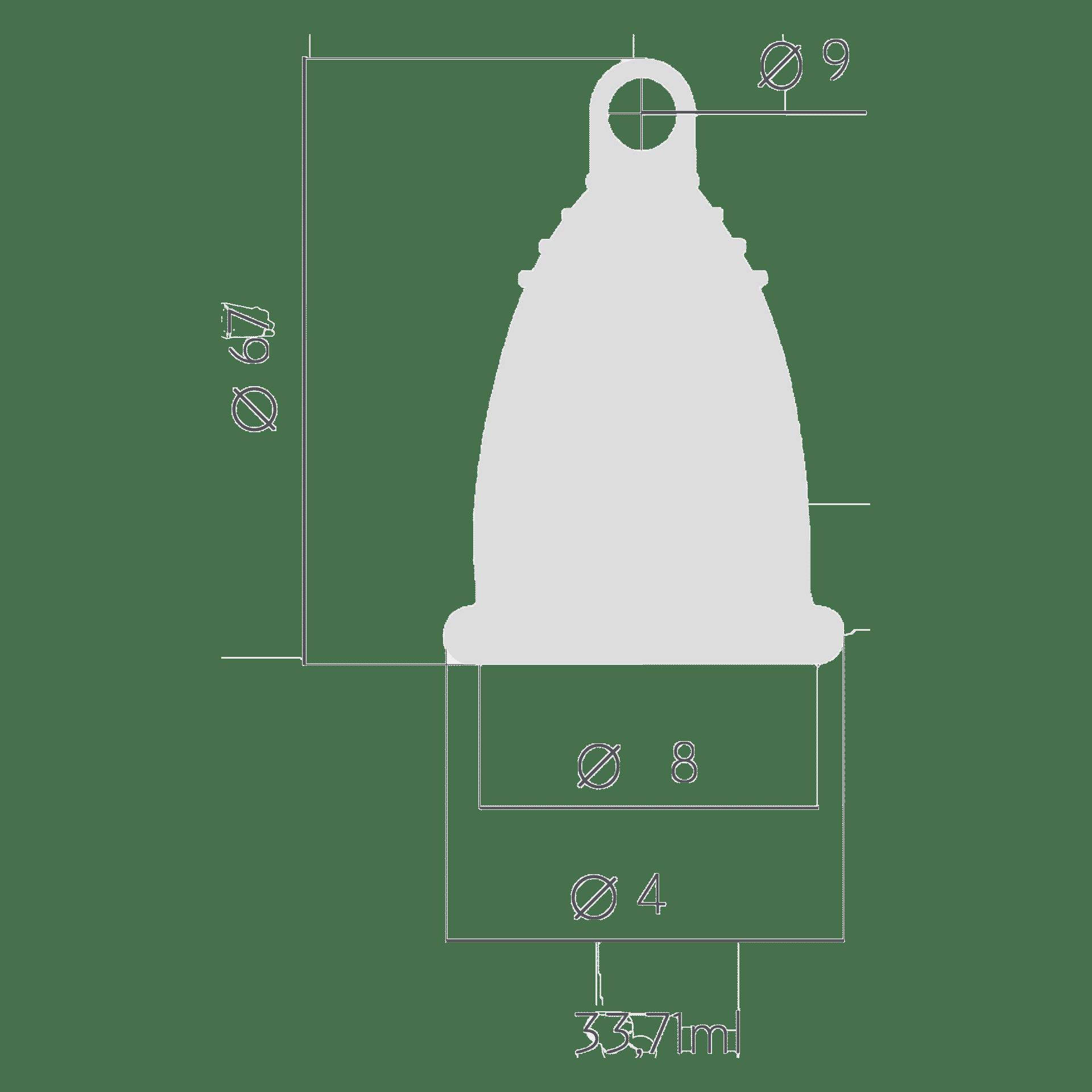 Менструальна чаша t.o.c. Розмір L