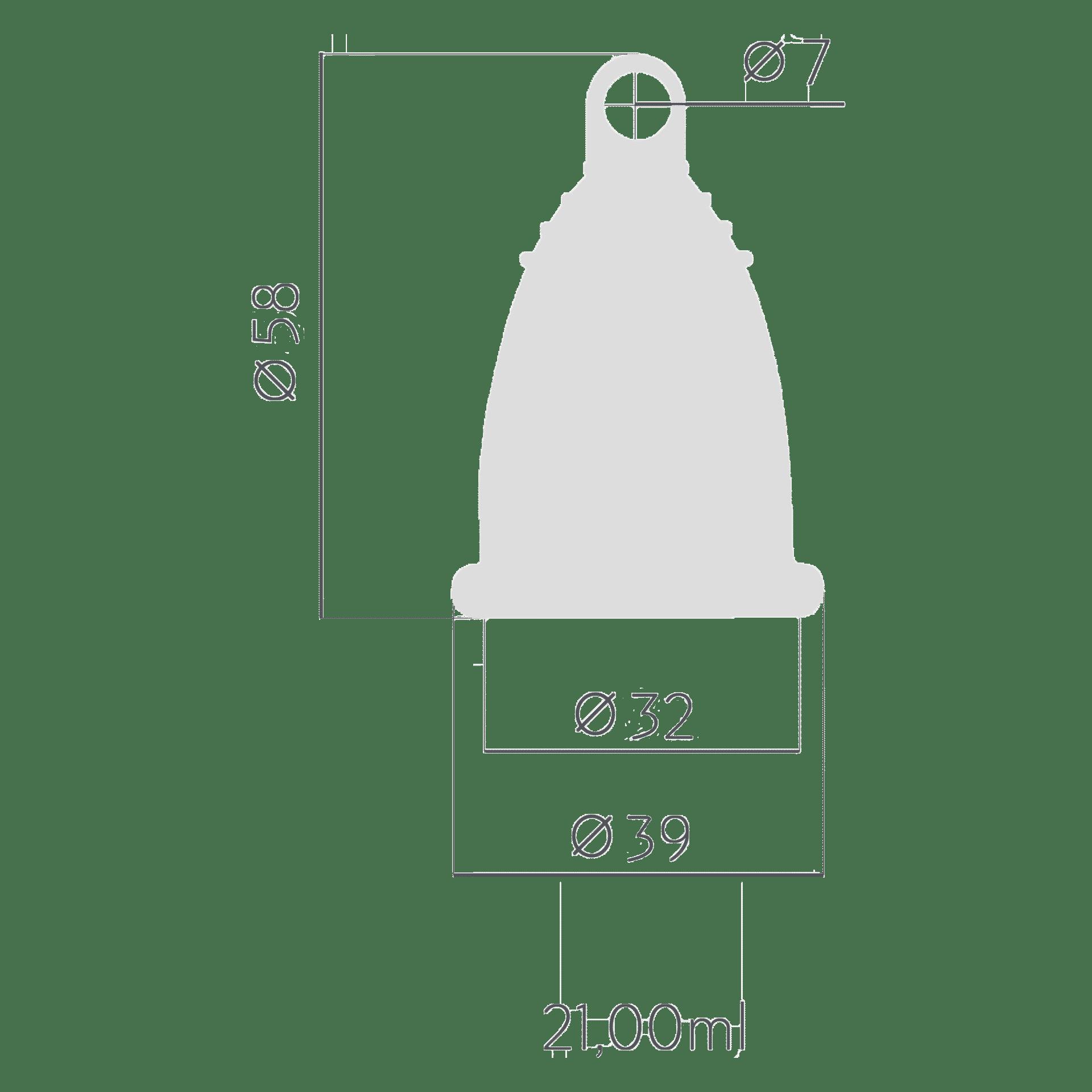 Менструальна чаша Selenacare Premium. Розмір S