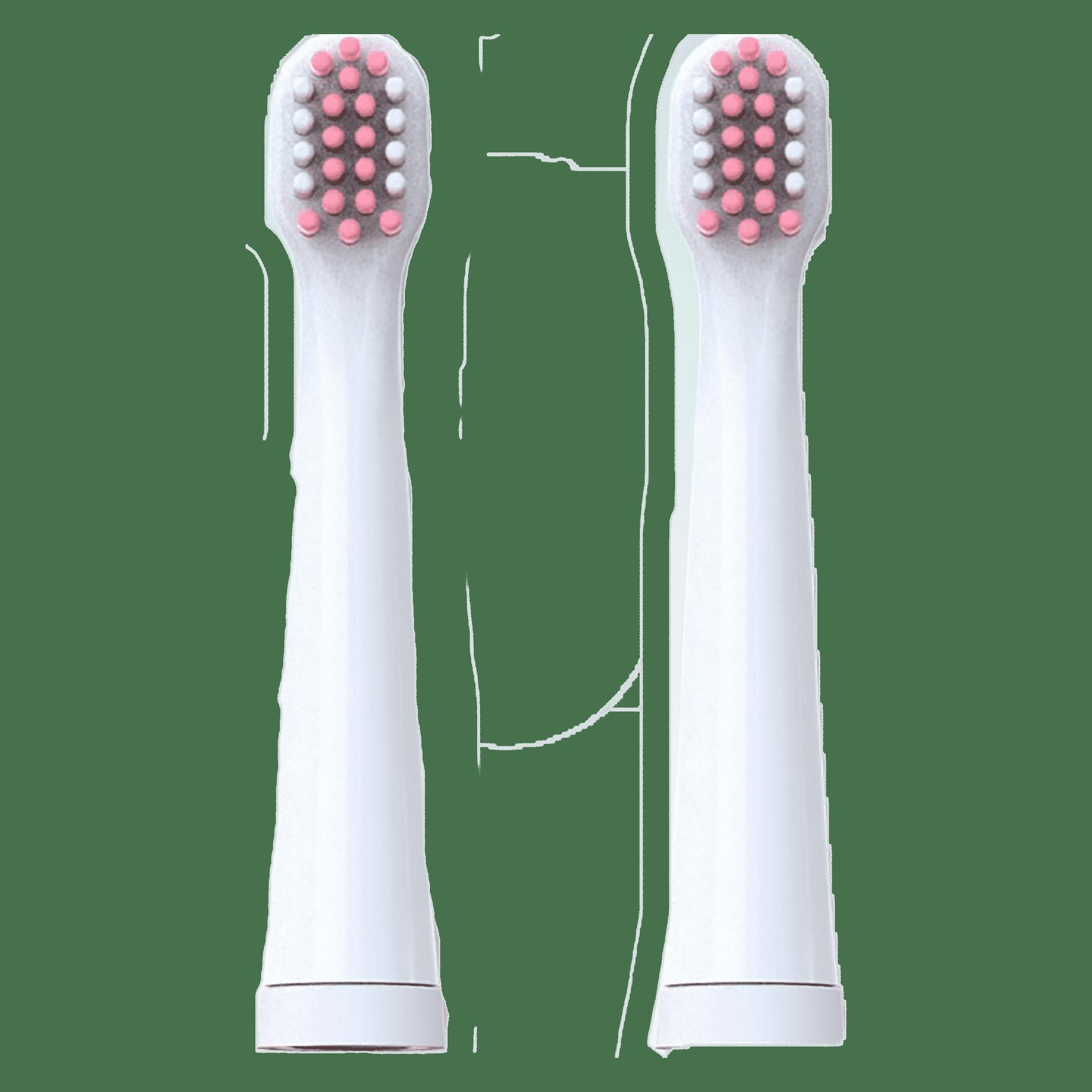 Насадки Vega Kids VK-10P до дитячої звукової зубної щітки VK-500P (рожеві) 3 – 12 років